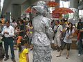 HK Chai Wan Open Day 青年廣場 Youth Square Living statue 1.JPG