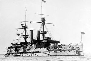 Royal Sovereign-class battleship - The barbette-equipped Empress of India