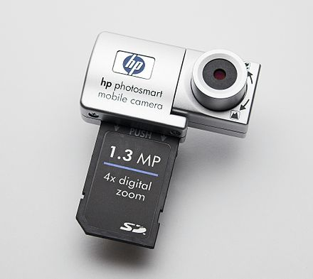 An HP camera with an SDIO interface, designed for use in conjunction with a Pocket PC HP PhotoSmart SDIO Kamera.jpg