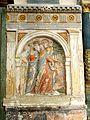 Hadancourt-le-Haut-Clocher (60), église Saint-Martin, chœur, bas-relief - saint Martin guérissant un lépreux 2.jpg