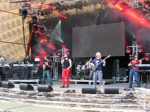 Haken (band) - Haken performing live at the 2011 Lorelei with their first stable line-up. From left to right: Tejeida, Griffiths, Jennings, Hearne, MacLean and Henshall.