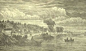 York, Upper Canada - View of York from the harbour looking north, in 1803