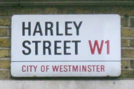 Univers Bold Condensed on a London street sign HarleyStreetSign.JPG