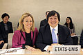 Harold Hongju Koh and Ambassador Eileen Chamberlain Donahoe at Human Rights Council.jpg