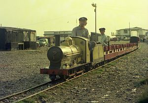 Hastings Miniature Railway - Train with Firefly, in 1976