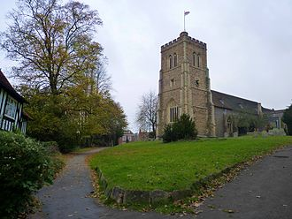 Hatfield, Hertfordshire - Church of St Etheldreda in Old Hatfield.