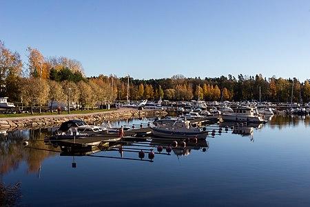 Haukilahti marina in Espoo, Finland.
