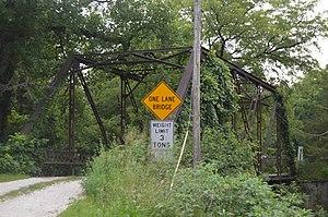 Hawkeye Creek Bridge - Image: Hawkeye Creek Bridge from west