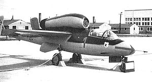 Heinkel He 162 - He 162 120077, surrendered to the British at Leck, pictured at Freeman Field, Indiana, 1945