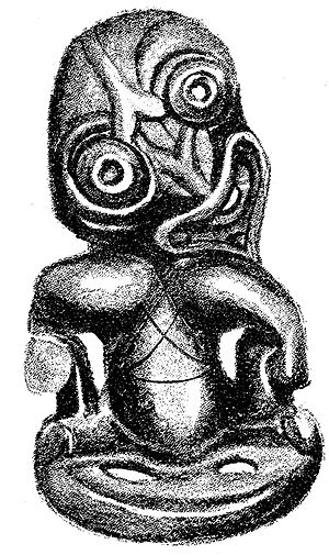 John White (ethnographer) - Sketch of a hei-tiki, from John White, The Ancient History of the Maori