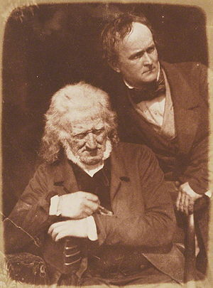 Alexander Handyside Ritchie - John Henning (seated) and Alexander Handyside Ritchie (standing) from the National Portrait Gallery by David Octavius Hill and Robert Adamson
