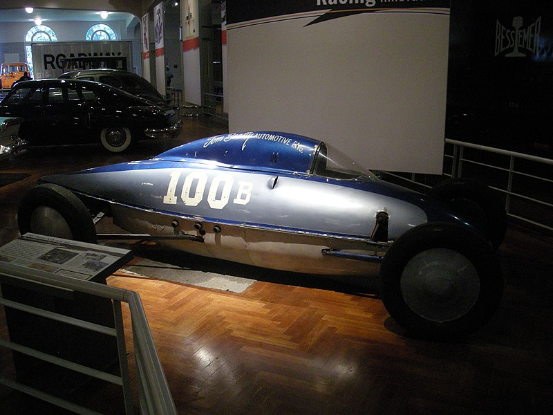 A photo of a lakester at the Henry Ford Museum