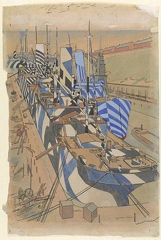Herculaneum Dock - Image: Herculaneum Dock, Liverpool Art.IWMART2293
