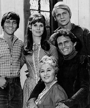 Here Come the Brides - Clockwise from left: Bobby Sherman, Bridget Hanley, David Soul, Robert Brown, Joan Blondell