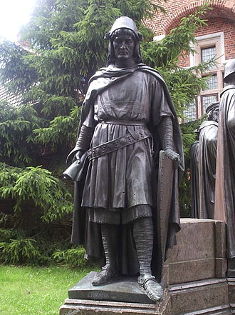Hermann von Salza - Monument at Marienburg Castle.