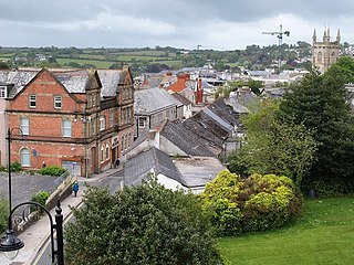 St Austell town in Cornwall, Britain