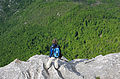 Hiking the distinctive karst topography (Furrows in rock) Velebit Nature Park, Croatia.jpg