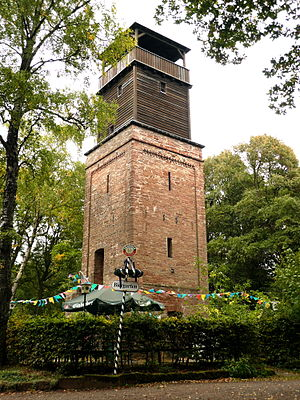 Hildesheim Forest - The Hildesheim observation tower in the Hildesheim Forest
