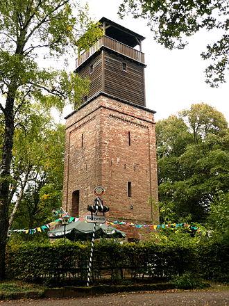 Hildesheim Forest - The Hildesheim observation tower in the Hildesheim Forest