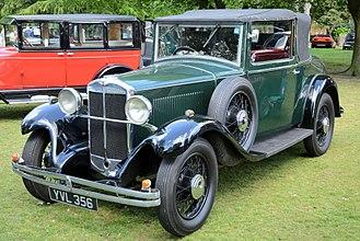 Hillman Wizard - 1931 drophead coupé