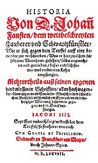 Historia von D. Johann Fausten (chapbook) chapbook of stories concerning the life of Johann Georg Faust