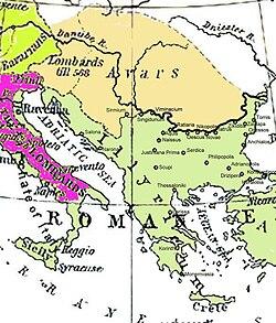 Avar Khaganate alrededor de 582–612 d. C.