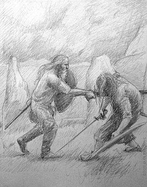Holmgang - Holmgang duel in a stone circle.