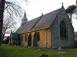 Gwernaffield - Image: Holy Trinity Church, Gwernaffield. geograph.org.uk 111228