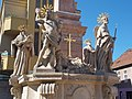 Holy Trinity Column (1715), St. Anthony of Padua, St. Sebastian, St. Rosalia, St. Roch, Charles Borromeo. - Komárno.jpg