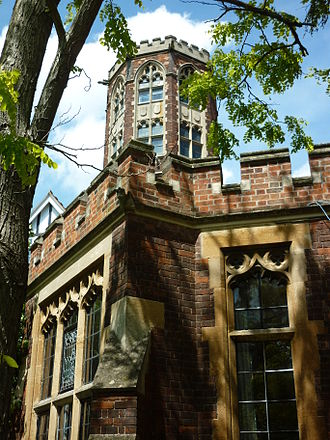 Homerton College, Cambridge - Homerton's Castellated Tower.