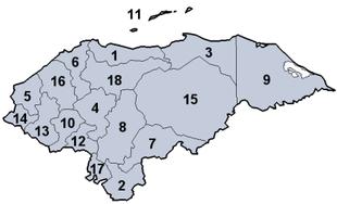 Suddivisione amministrativa dell'Honduras