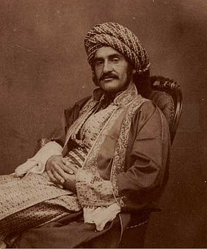 Cyrus Cylinder - Hormuzd Rassam in Mosul circa 1854. The Cyrus Cylinder was discovered during Rassam's excavations in Babylon in February–March 1879.