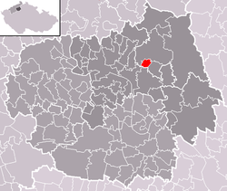 Location of Horní Řepčice