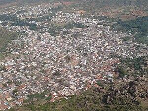 Hosadurga - Aerial view of Hosadurga town