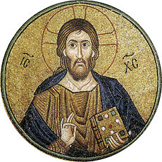 Hosios Loukas (nave, vault over south cross-arm) - Pantocrator 02