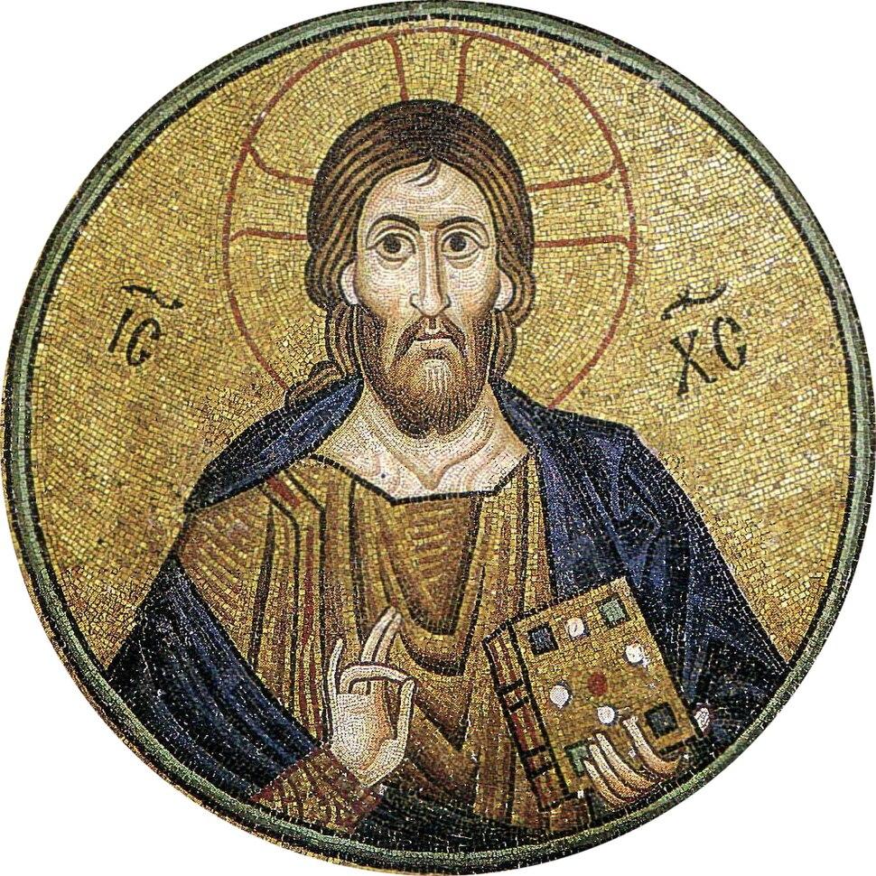 Hosios Loukas (nave, vault over south cross-arm) - Pantocrator 02