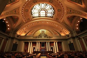 Minnesota House of Representatives - Image: House Chamber, Minnesota State Capitol