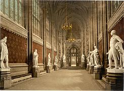Houses of Parliament St. Stephens Hall (Interior) London England