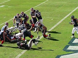 2006 Buffalo Bills season - Image: Houston Texans advance to 1 yard line vs Buffalo Bills 2006 11 19
