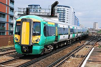 Keolis - Southern Class 377 at Battersea Park in June 2010