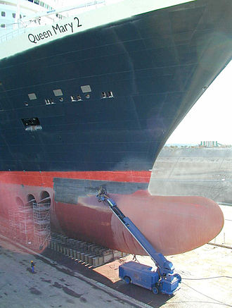 RMS Queen Mary 2 - Bulbous bow of Queen Mary 2