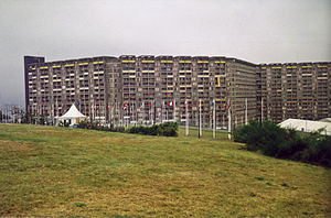 1991 Summer Universiade - Hyde Park flats during the 1991 Summer Universiade