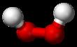 Pilk-kaj-bastona modelo de la hidrogenperoksida molekulo