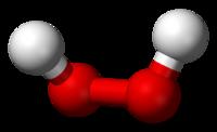 Пероксид водорода: вид молекулы