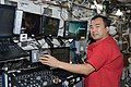 ISS-22 Soichi Noguchi at the Canadarm2 workstation in the Destiny lab.jpg