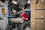 ISS-55 Scott Tingle works inside the Tranquility module.jpg
