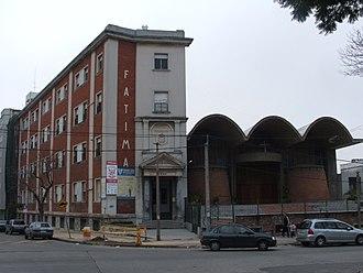 """Nuestra Señora de Fátima, Pocitos, Montevideo - School and parish church """"Fátima"""" in Pocitos"""