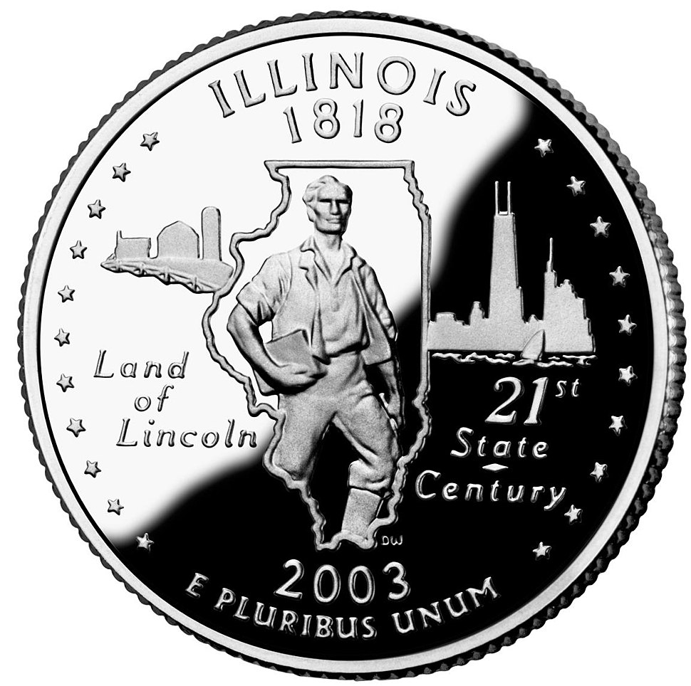 Illinois quarter, reverse side, 2003