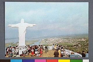 Imagem do Cristo, do Alto do Morro do Espia, em Iguape