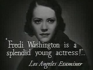 Fredi Washington American actress